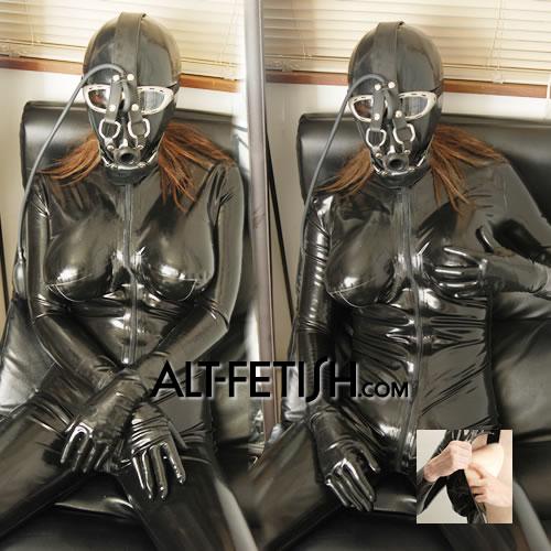 シリコンバストキャットスーツ
