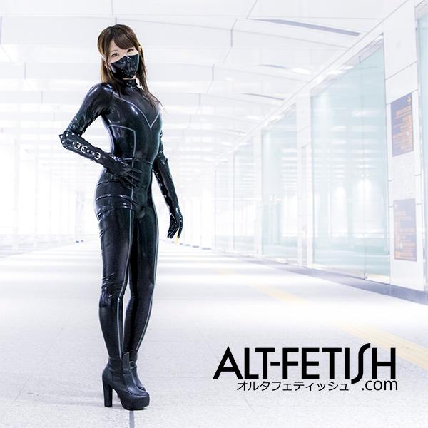 ラバーキャットスーツ,ロボットガール,catsuit,alt-fetish.com